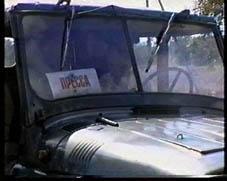 Эта машина Пятигорского телевидения в Чечню не поехала