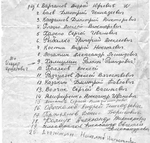 Список пленных